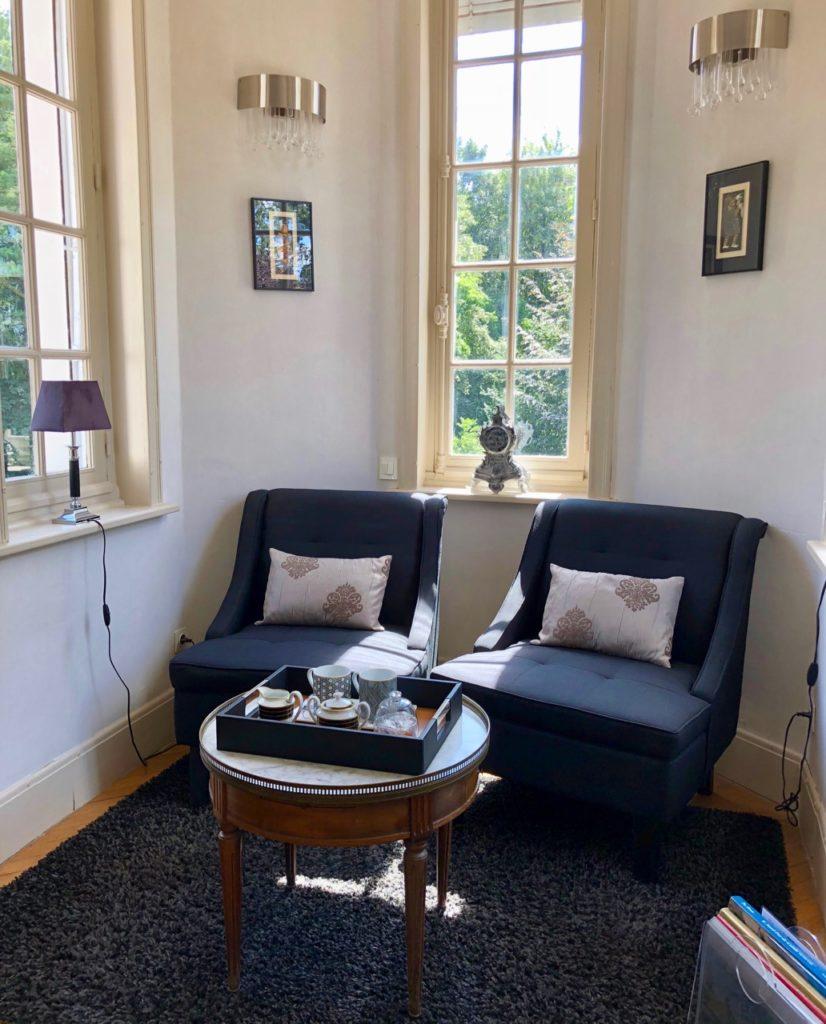Le Chateau Fresnoy-en-Gohelle coin salon chambre