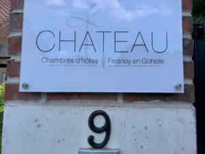 Le Chateau Fresnoy-en-Gohelle plaque