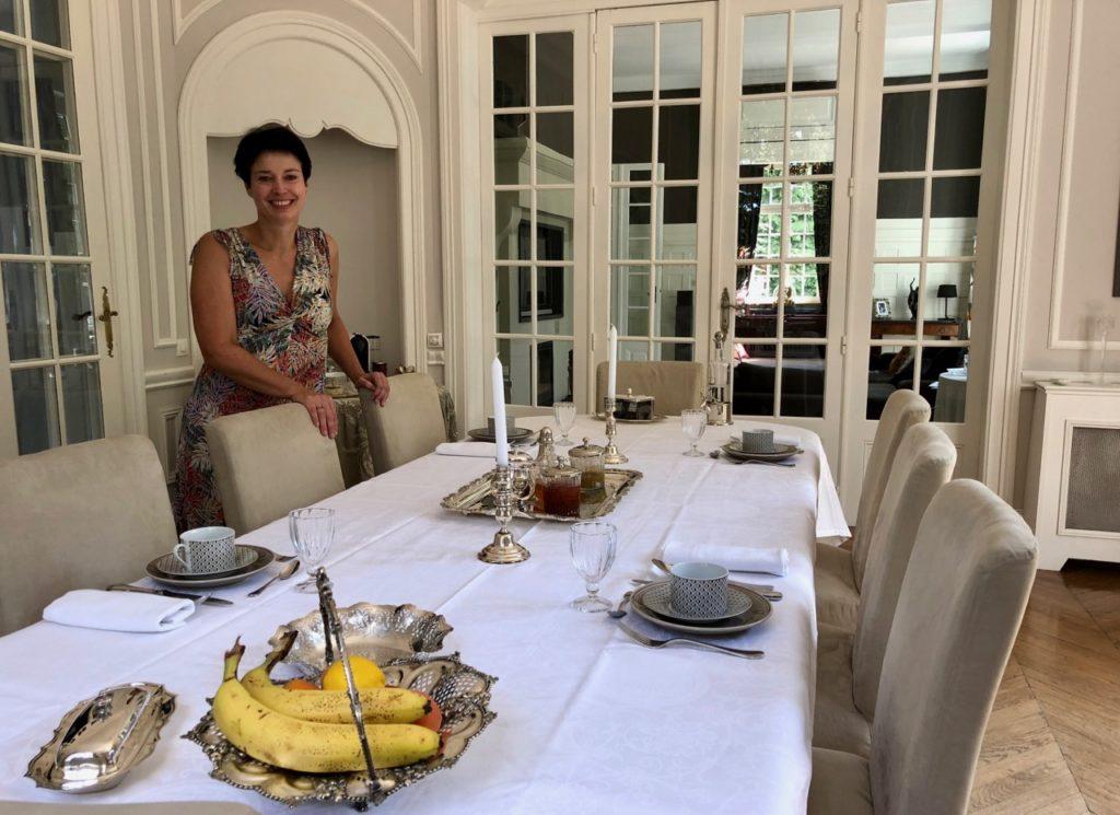 Le Chateau Fresnoy-en-Gohelle salle petit déjeuner