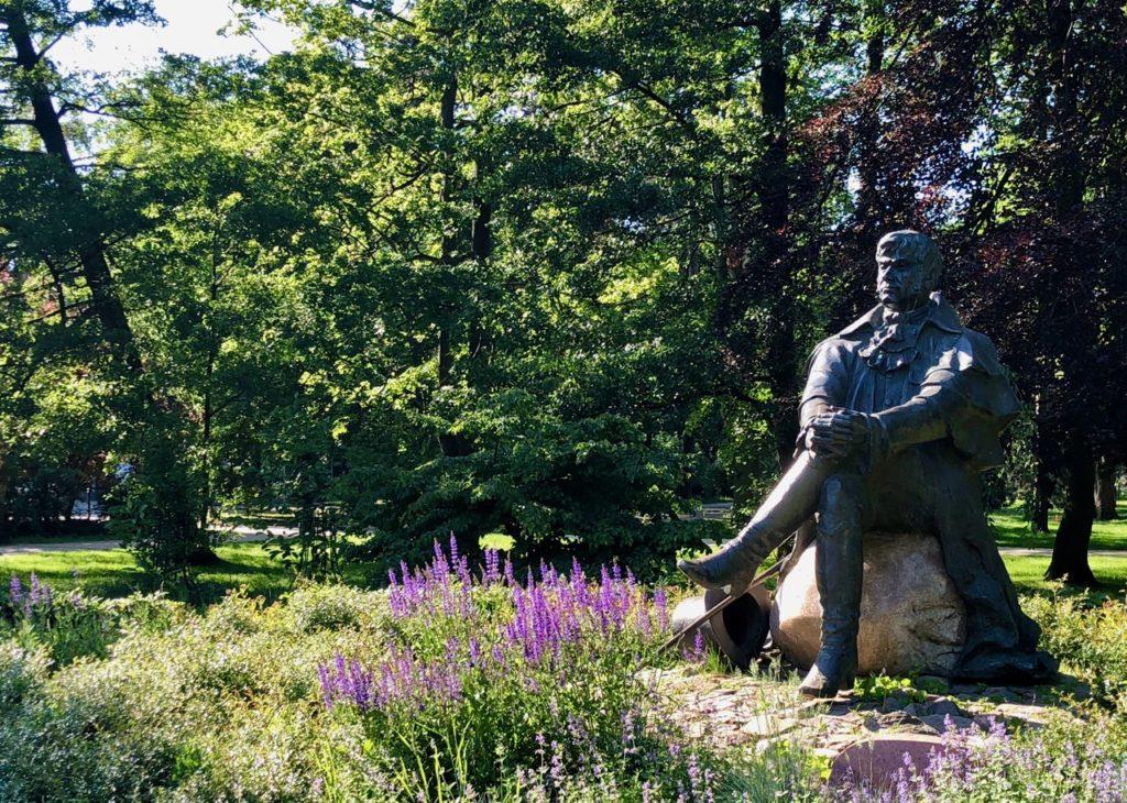 Pologne-Sopot-parc-statue