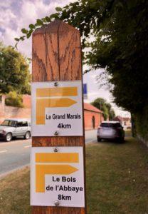 Rando Grand Marais panneau indication