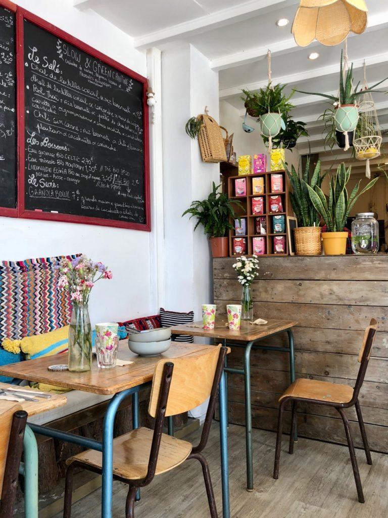 Slow & Green Cantine Lille Wazemmes - ardoise menu