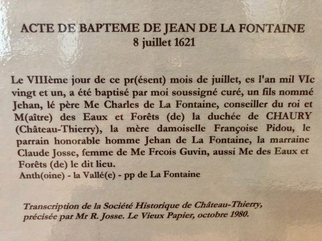 Chateau-Thierry-Maison-La-Fontaine-texte-acte-bapteme