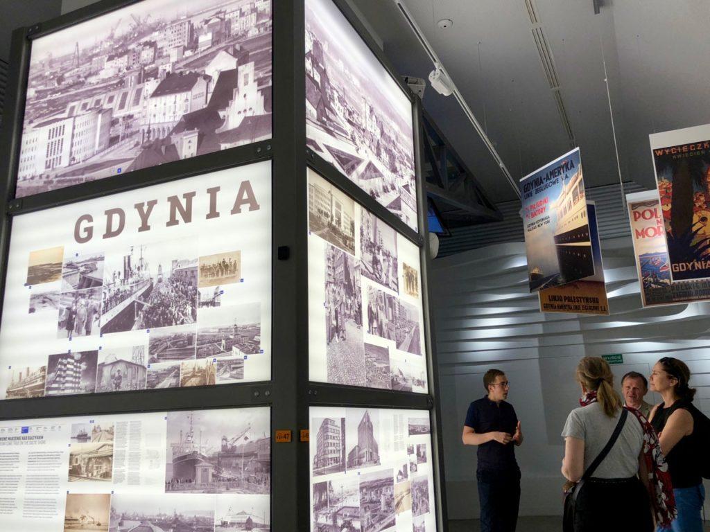 Gdynia Pologne musée émigration - salle