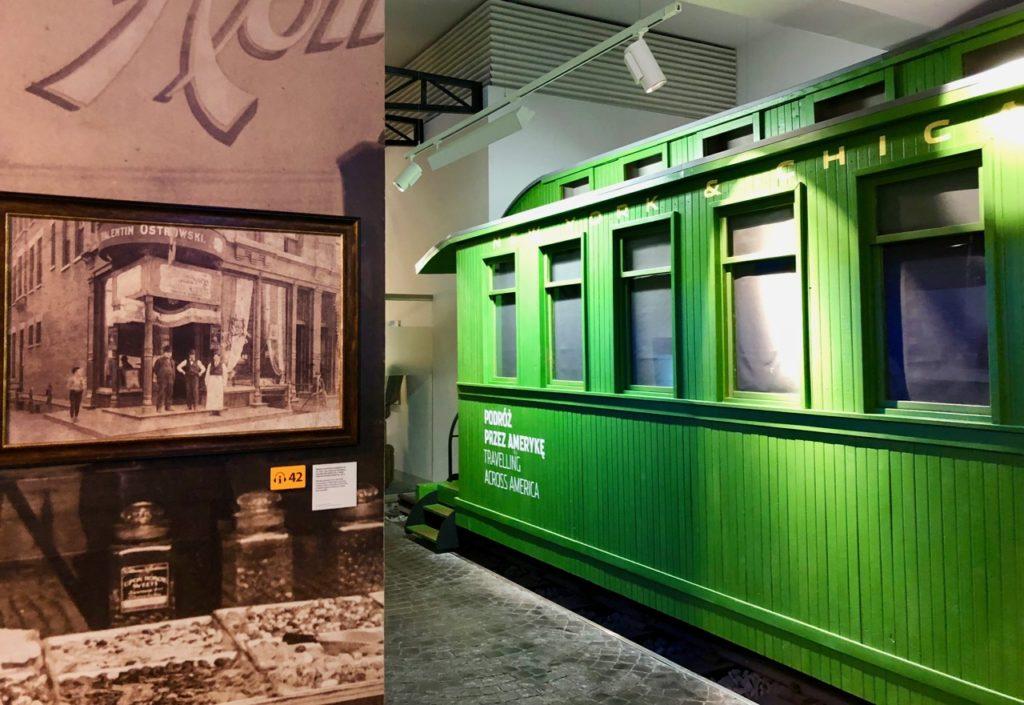 Gdynia Pologne musée émigration - train vert