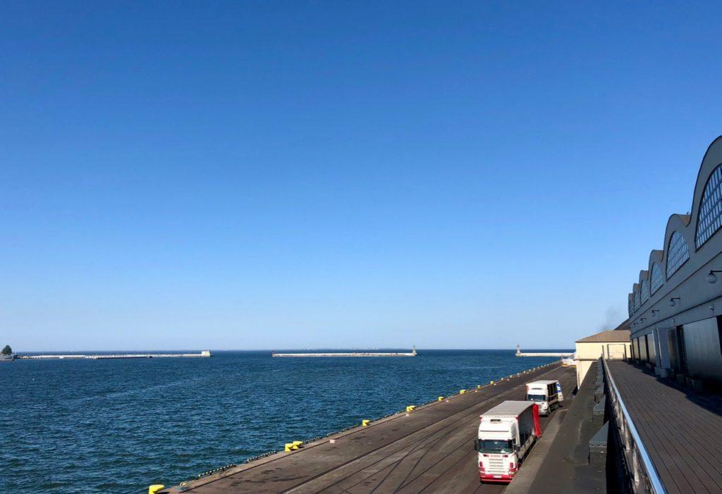 Gdynia Pologne musée émigration - vue sur mer