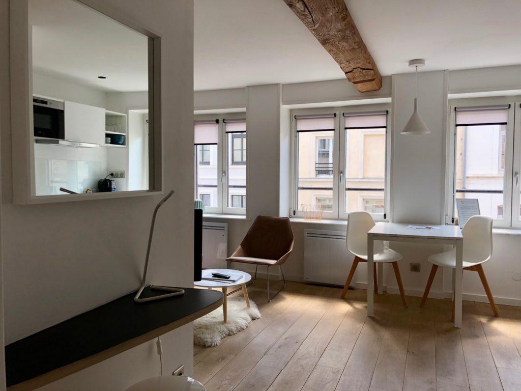 Le Chat qui dort Lille - appartement Le Petit Quinquin salon séjour