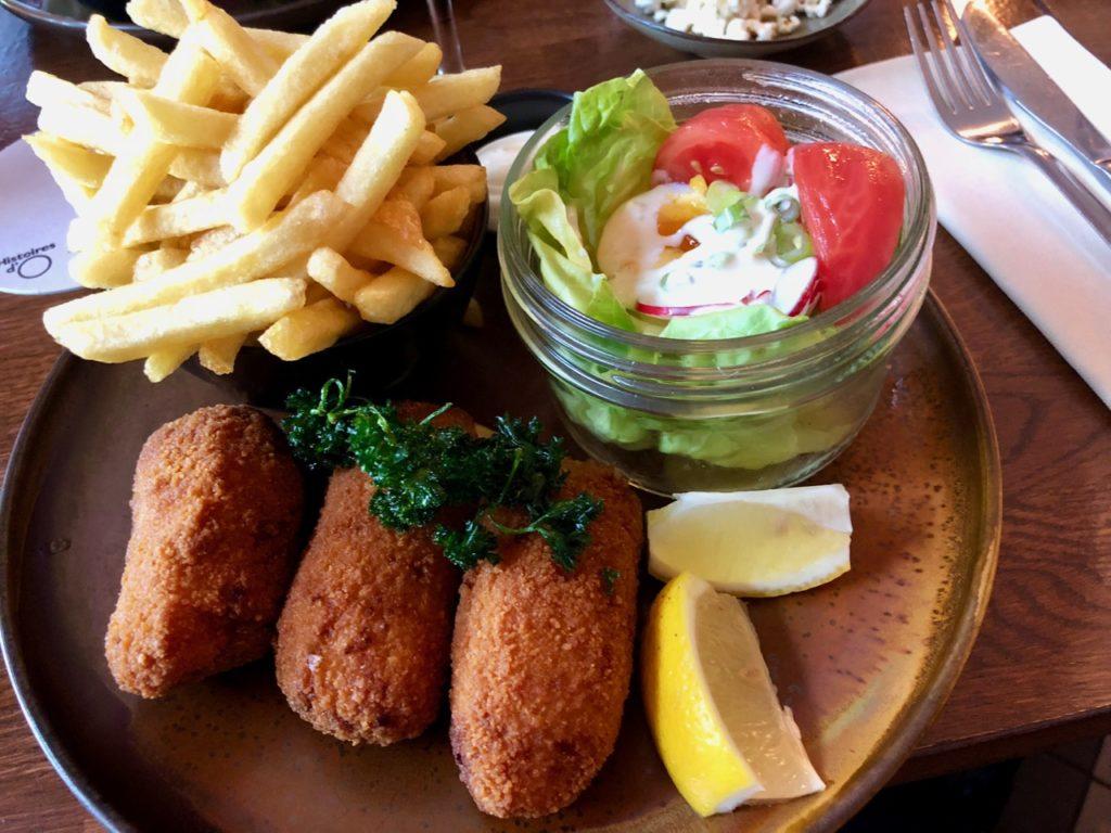 Ostende tables ostendaises Histoires d'O croquettes crevettes