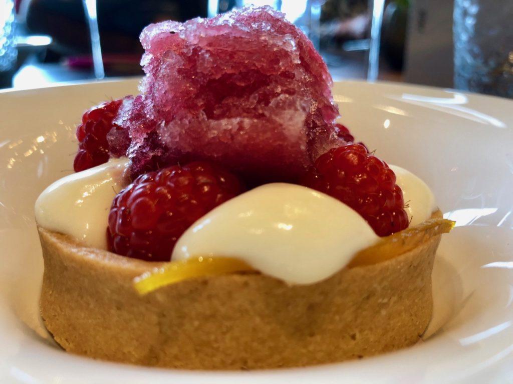 Ostende tables ostendaises Storm dessert sablé framboises