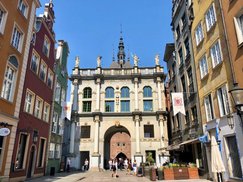 Pologne Gdansk Porte doree interieur
