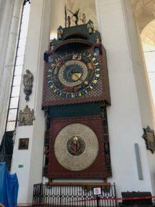 Pologne Gdansk basilique Notre Dame horloge astronomique