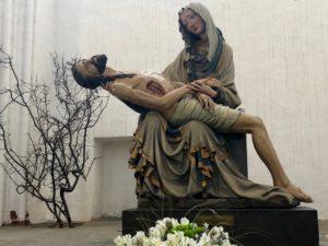 Pologne Gdansk basilique Notre Dame pieta