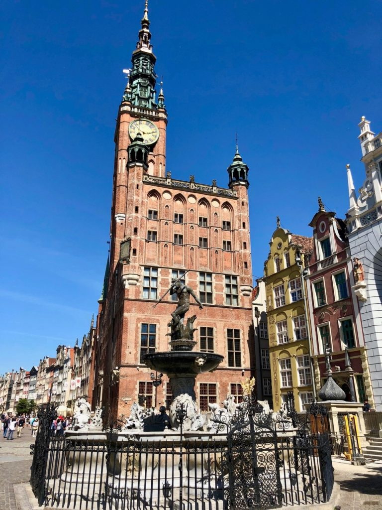 Pologne Gdansk hotel de ville et fontaine Neptune