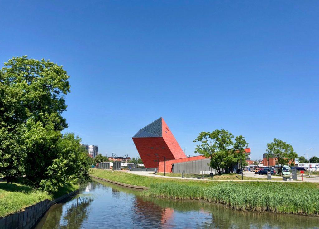 Pologne Gdansk nouveau musee Deuxieme Guerre mondiale exterieur