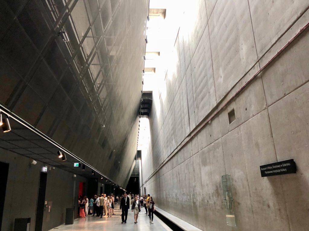 Pologne Gdansk nouveau musee Deuxieme Guerre mondiale interieur
