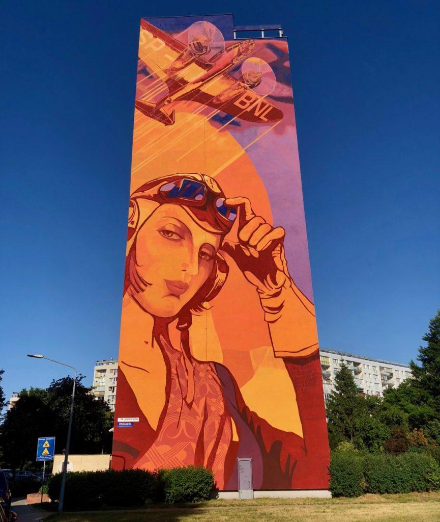 Pologne Gdansk quartier Zaspa fresque galerie art monumentale