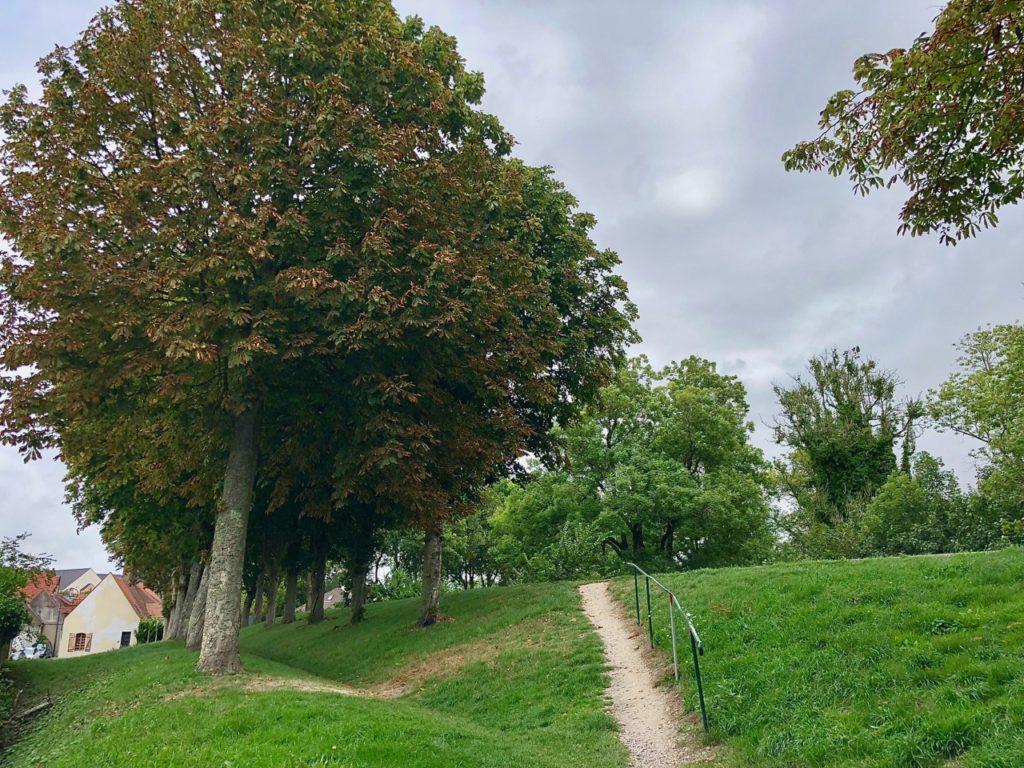 Montreuil-sur-Mer chemin remparts verdure