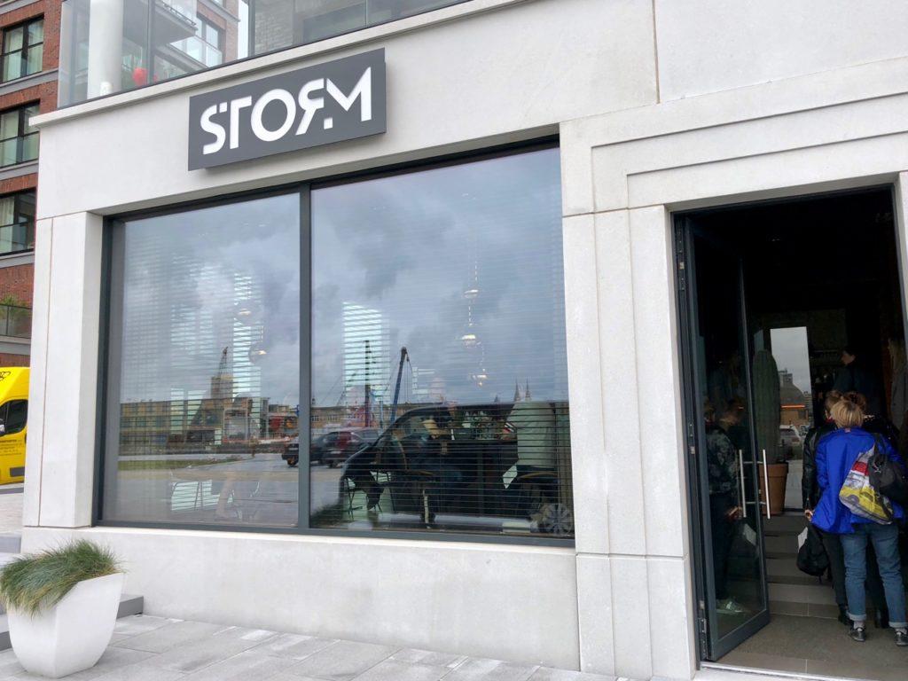 Ostende tables ostendaises Storm façade
