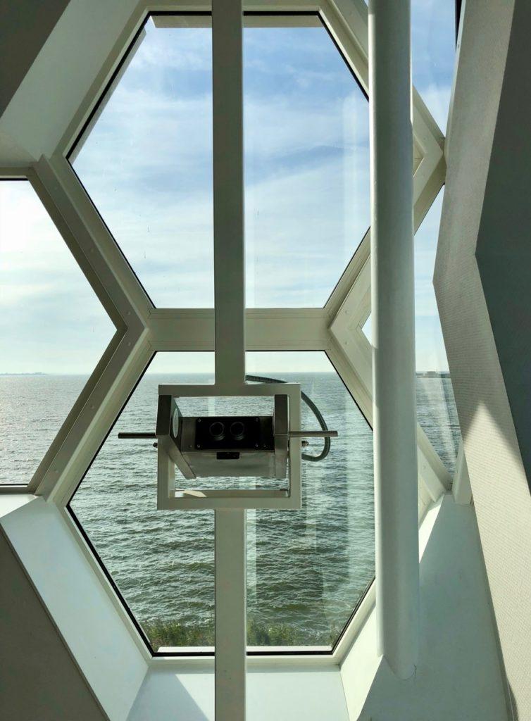 Pays-Bas digue du Nord - Afsluitdijkwaddencenter vue mer