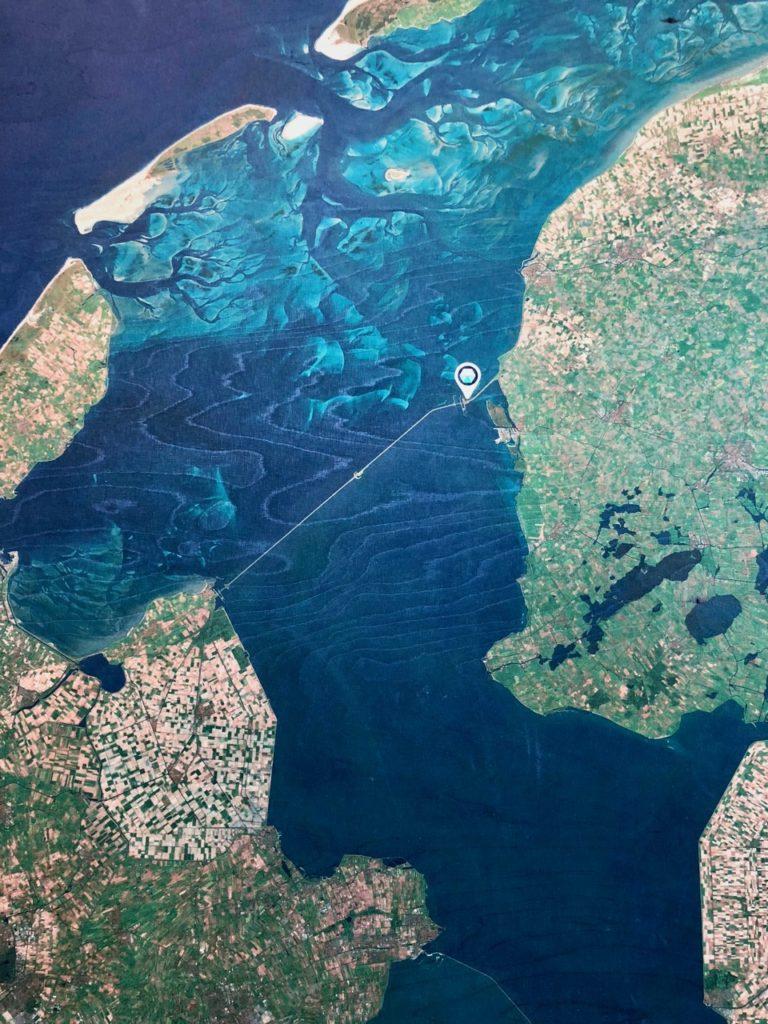 Pays-Bas digue du Nord - carte position Afsluitdijkwaddencenter