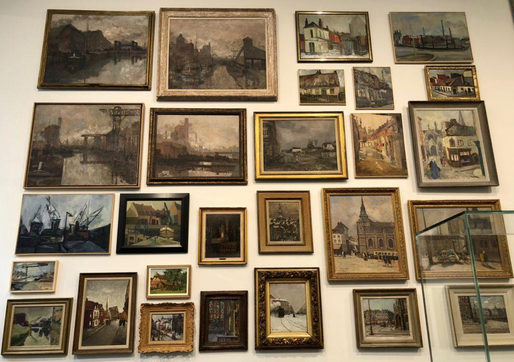 Roubaix musée La Piscine - mur tableaux salle histoire Roubaix