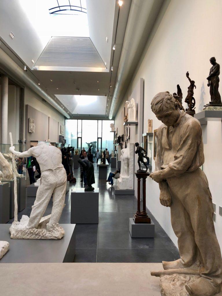 Roubaix musée La Piscine - nouvelle aile sculpture moderne