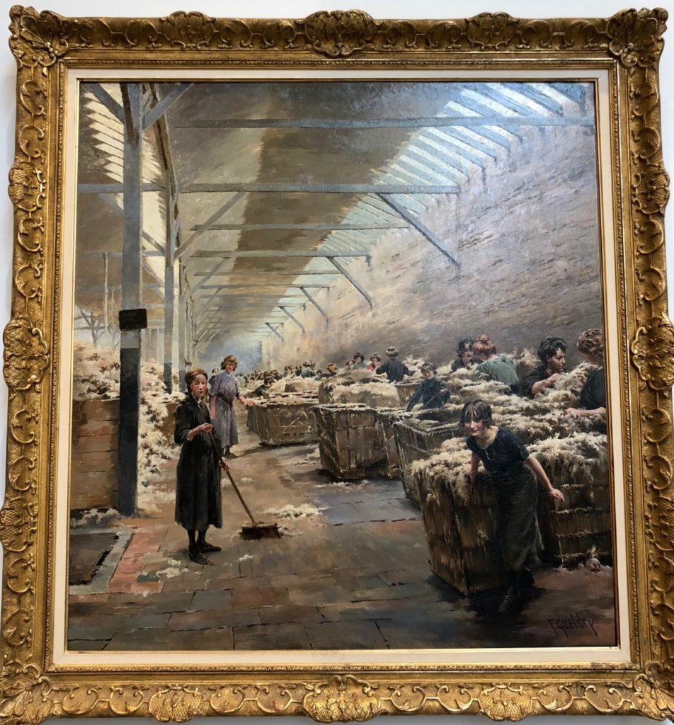 Roubaix musée La Piscine - salle histoire Roubaix tableau peignage Gueldry