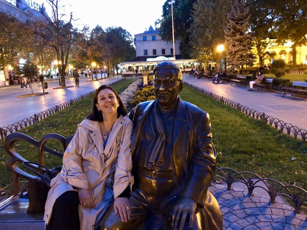 Ukraine-Odessa-parc-banc