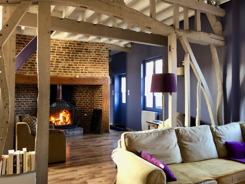Aux portes de la baie de Somme - Le Cottage d'Hamicourt salon