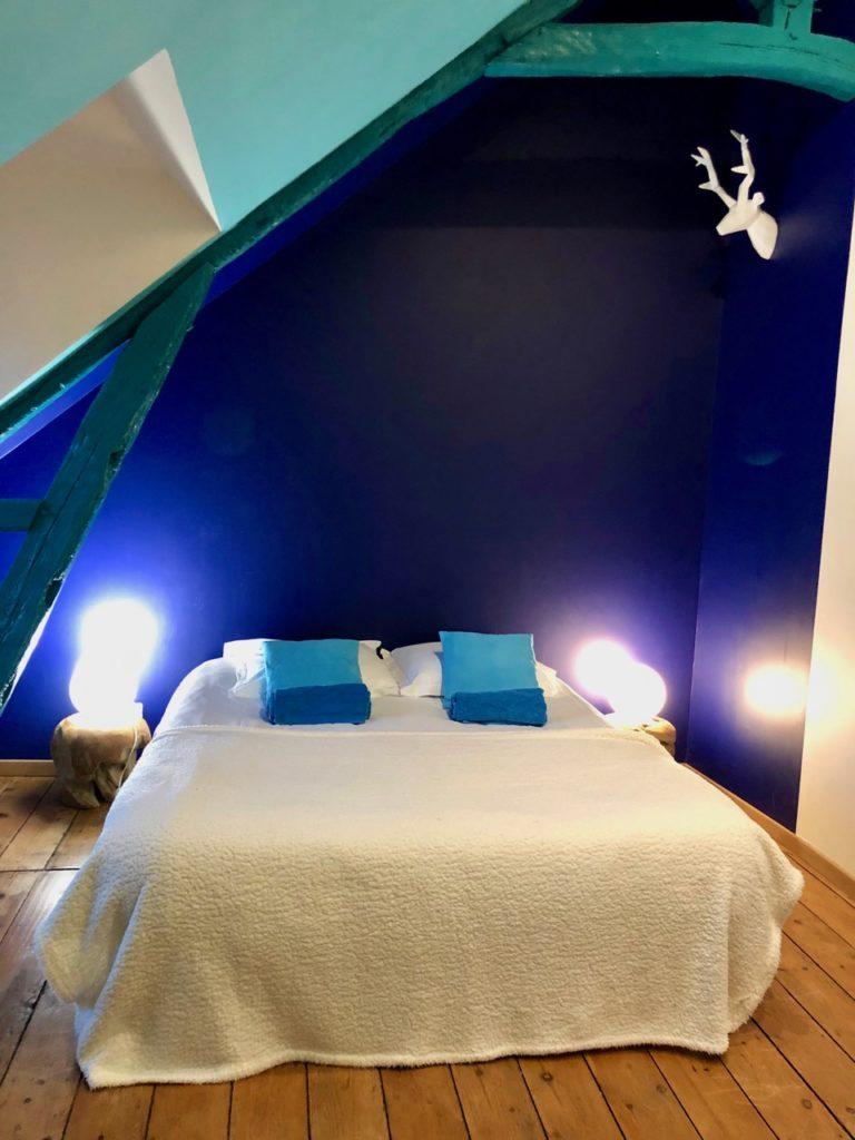 Aux portes de la baie de Somme - Le Cottage de Port-le-Grand chambre bleue