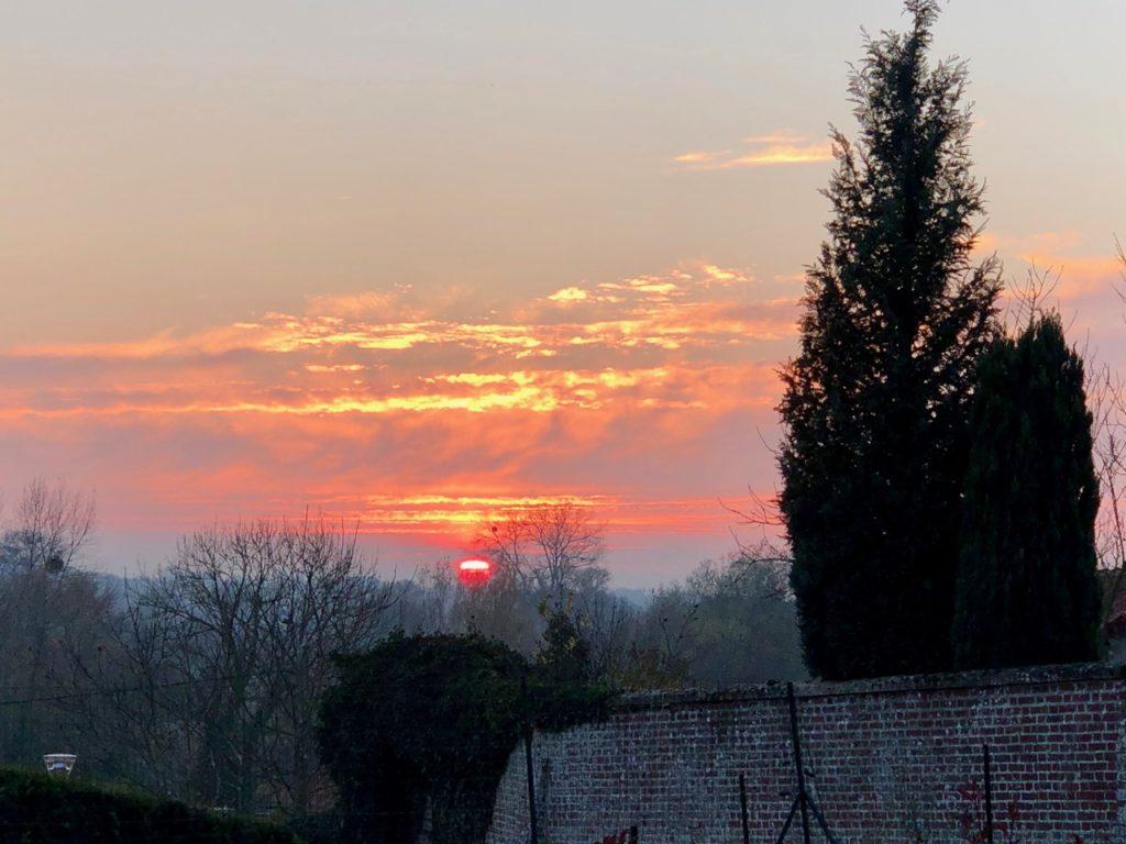 Aux-PoAux portes de la baie de Somme - coucher de soleil