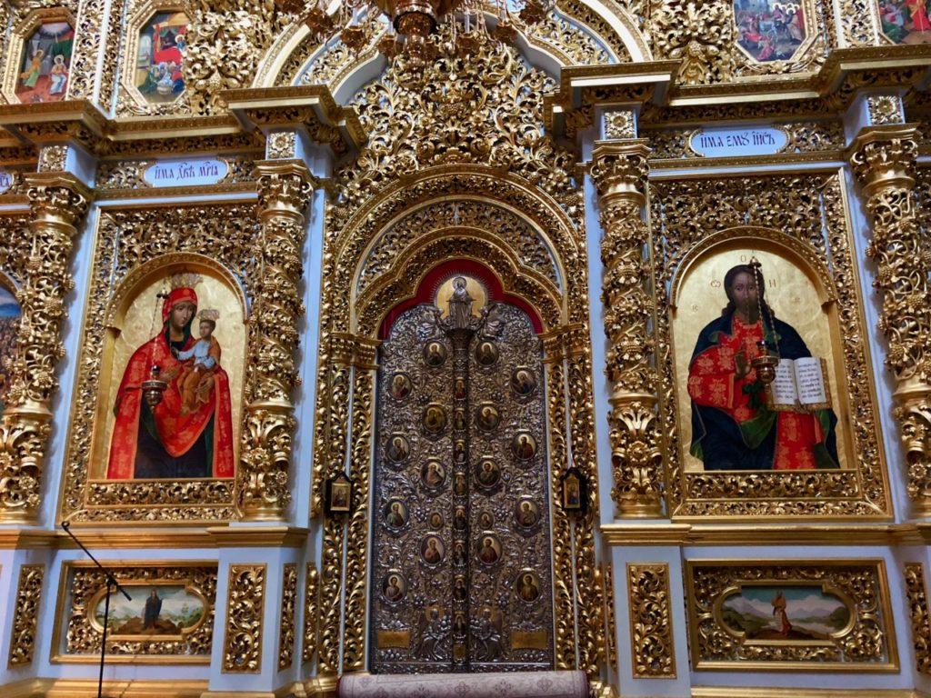 Ukraine Kiev Laure des catacombes cathédrale intérieur