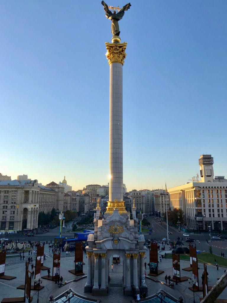 Ukraine-Kiev-colonne-place-de-l-Independance