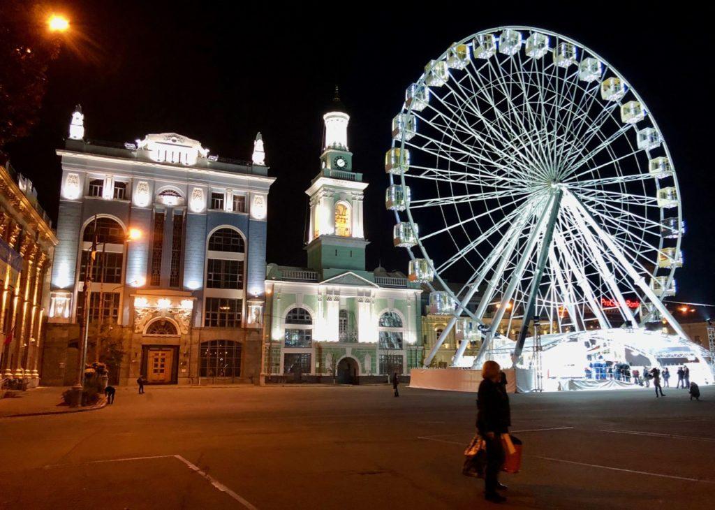Ukraine Kiev grand roue de nuit