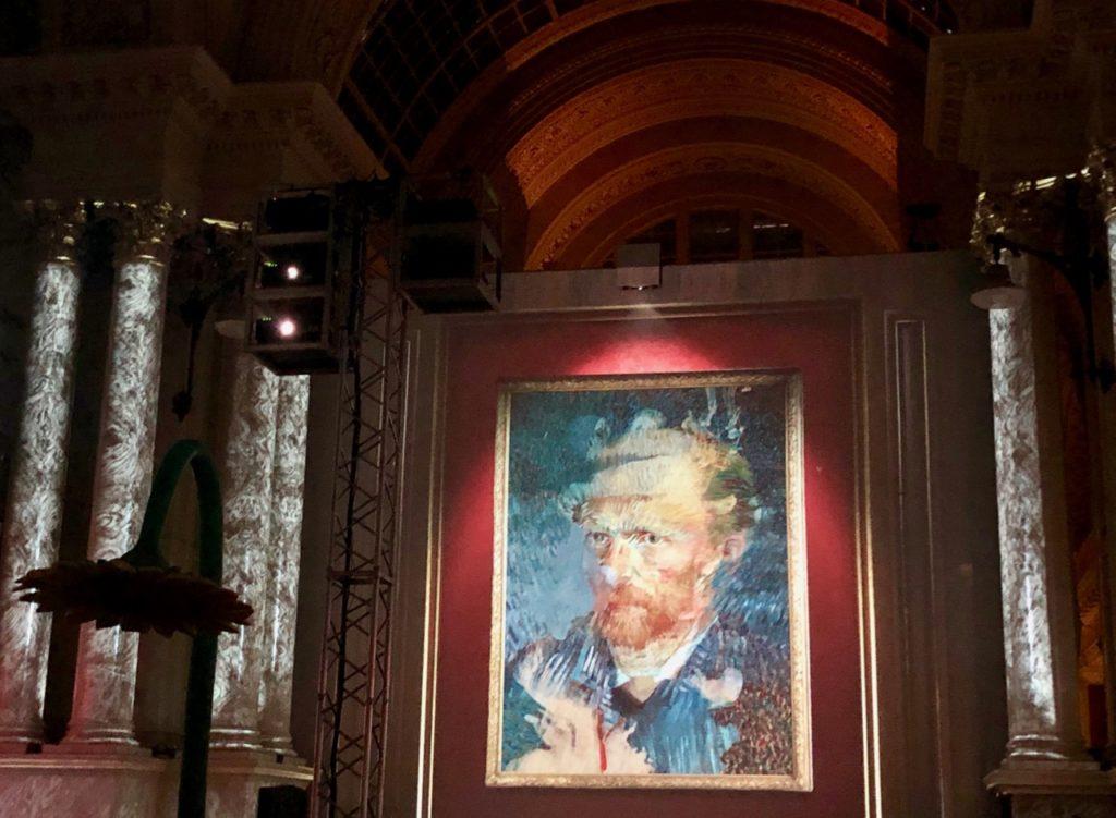 Bruxelles Plaisirs d'hiver Bourse portrait Van Gogh