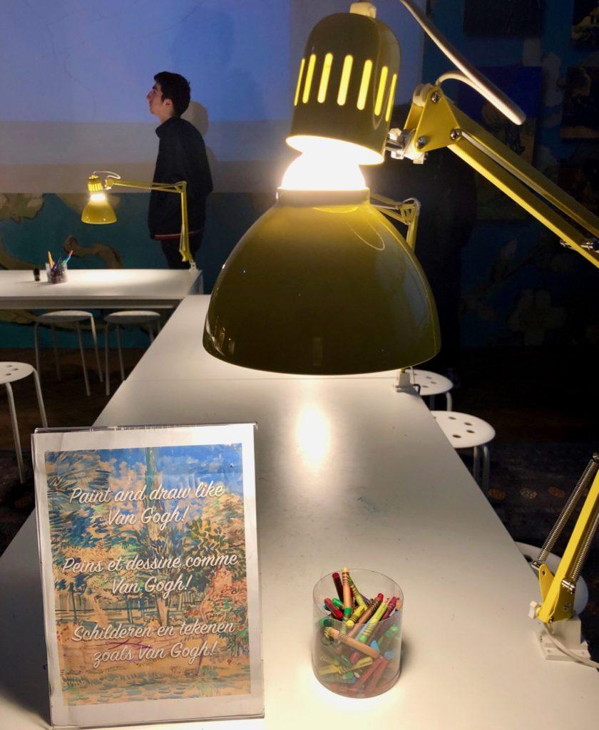 Bruxelles Plaisirs d'hiver dessine comme Van Gogh