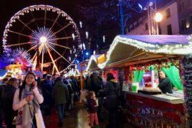 Bruxelles Plaisirs d'hiver marché Noël grand roue