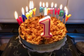 Blog Plus au nord gateau bougies