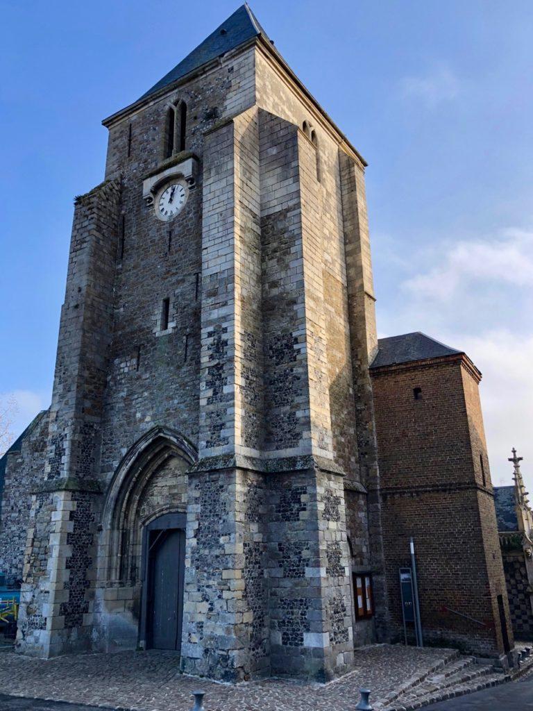 Balade Saint-Valery-sur-Somme église Saint-Martin extérieur