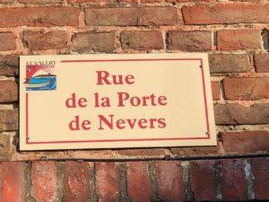 Balade Saint-Valery-sur-Somme panneau rue Porte Nevers