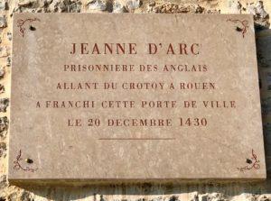 Balade Saint-Valery-sur-Somme panneau venue Jeanne d'Arc