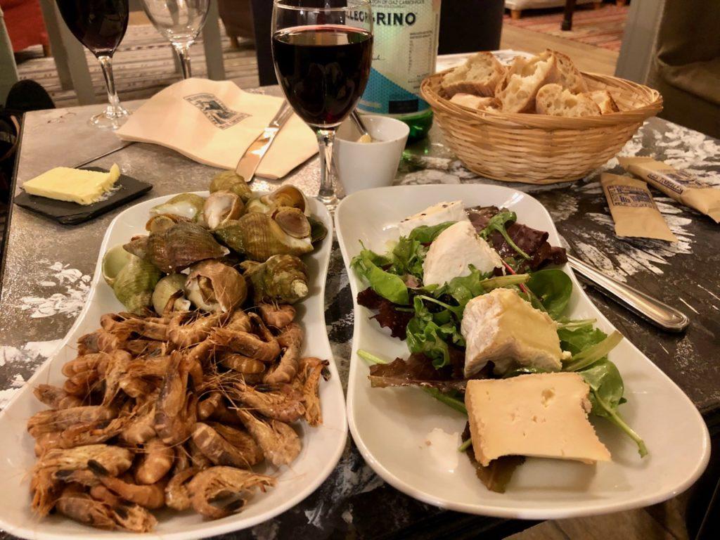 Le Crotoy hotel Les Tourelles fromages et crevettes