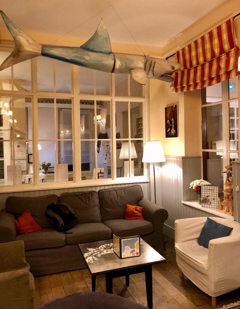 Le Crotoy hotel Les Tourelles salon