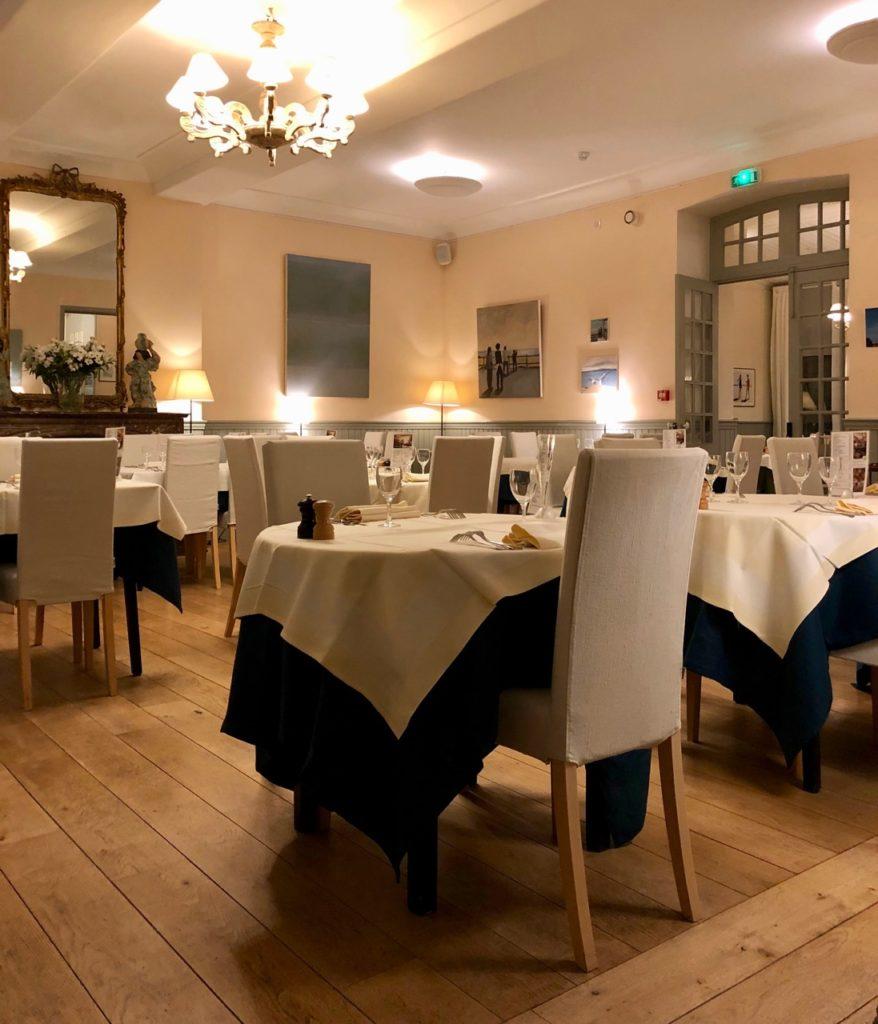 Le Crotoy hotel Les Tourelles vue salle à manger