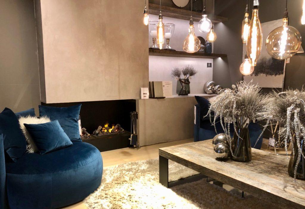 Slots Belgique salon fauteuil bleu