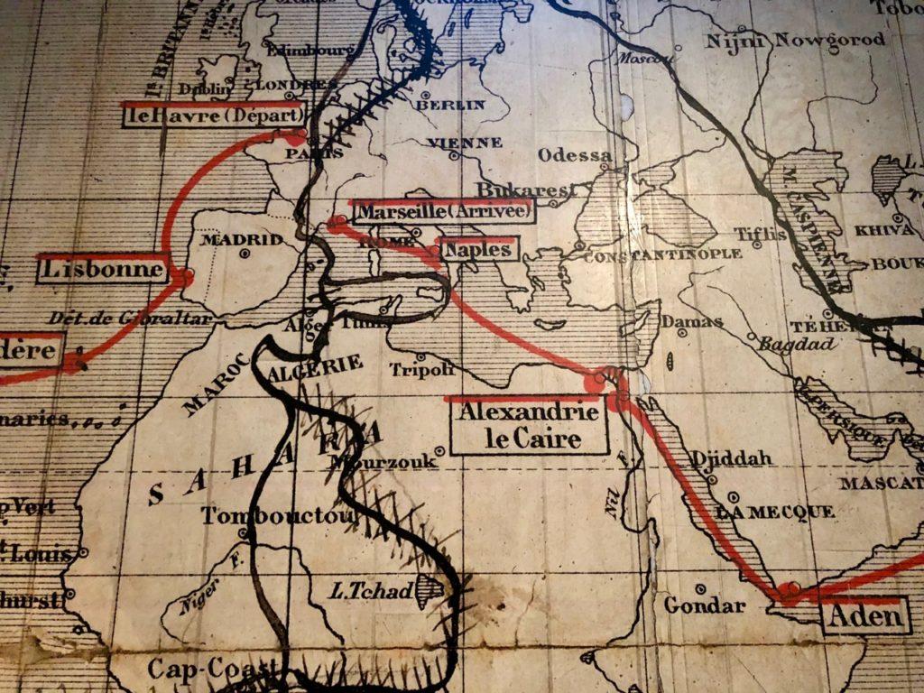 Amiens Maison Jules Verne carte monde