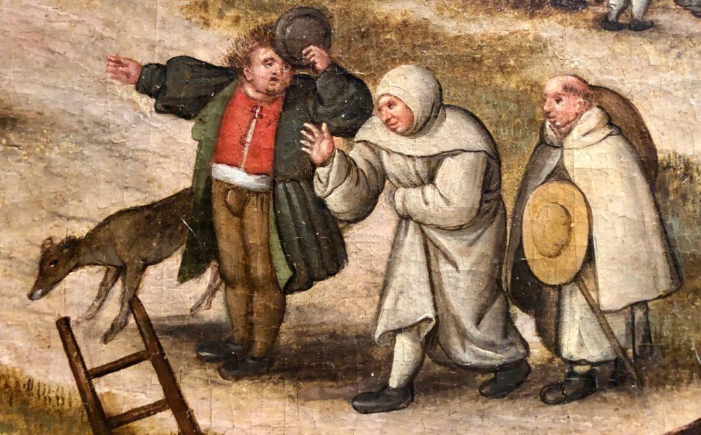 Cassel expo Brueghel moines demandant chemin