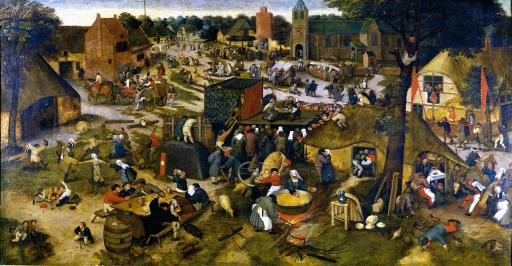 Cassel expo Pieter Brueghel La Kermesse villageoise avec théâtre et procession