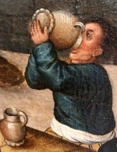 Cassel expo temps des Brueghel homme boit