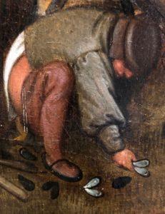 Cassel expo temps des Brueghel homme défèque